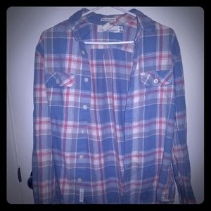 H&M Flanel in Light Blue and Pink
